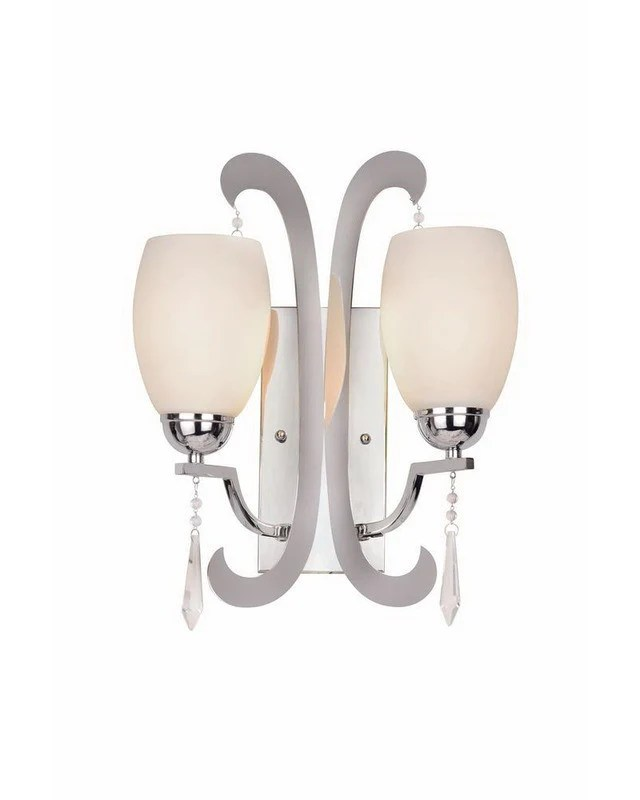 Trans Globe Lighting 1082 PC Two Light Wall Sconce in ... on Discount Wall Sconces id=52485