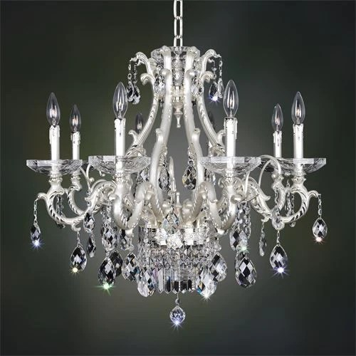 kalco lighting 024651 017 fr001h rossi collection ten light hanging chandelier in two tone silver finish