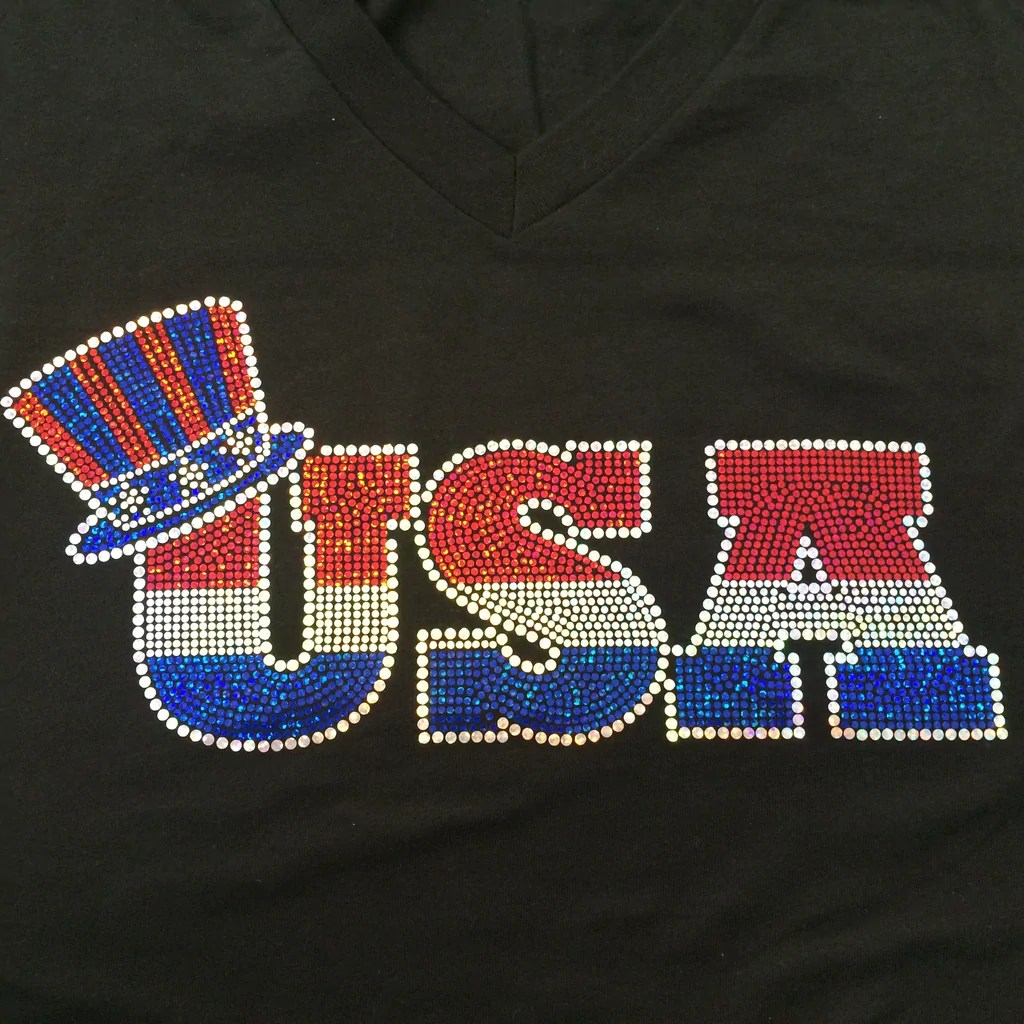 Red White And Blue USA Fireworks Fourth Of July T Shirt