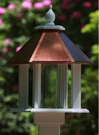 Vinyl Bird Feeders Gazebo Bird Feeders Post Mounted