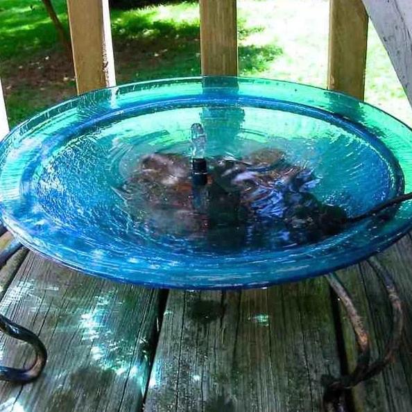 Solar Bubbler Bird Bath Deck Mount Or Ground Stand The