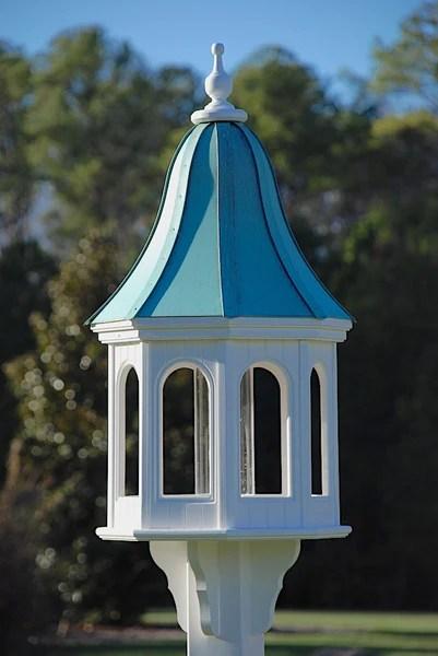 Copper Roof Bird Feeder Vinyl Pvc Large Gazebo Bird
