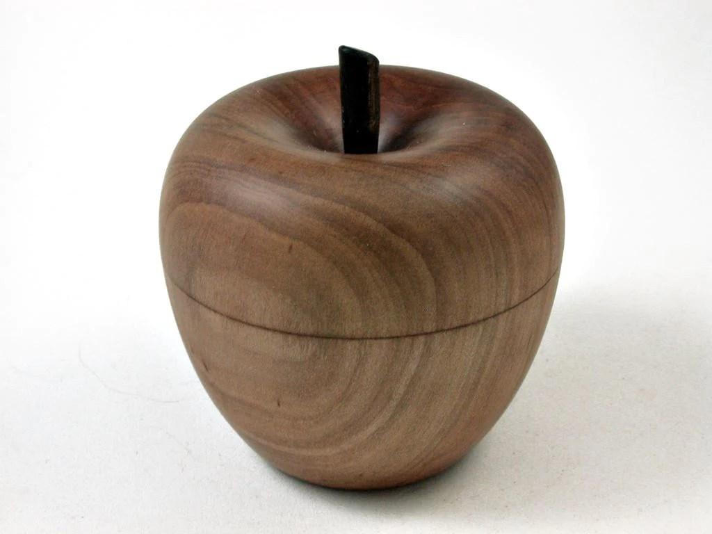 lv-2691 apple wood & ebony stem wooden apple threaded box-screw