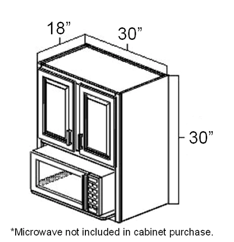 30 x 18 x 30 microwave wall cabinet