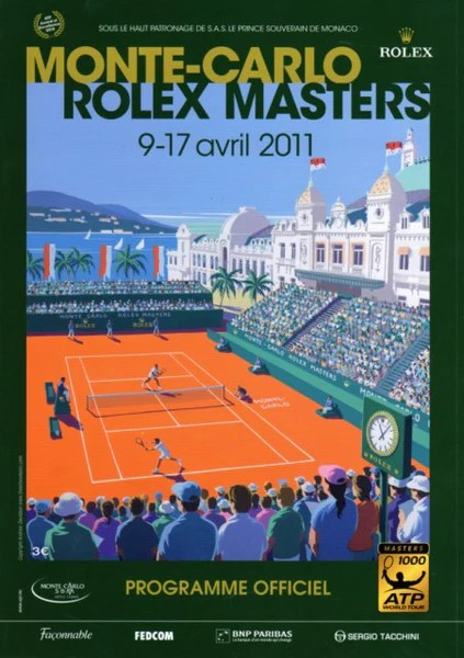 2011 Monte Carlo Rolex Masters Tournament Poster Tennis