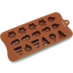 16 Cavity Silicone Christmas Tree Ornament And Star Chocolate Candy
