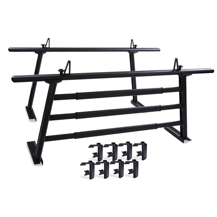 aa racks aluminum headache rack truck ladder rack for pickups with 3 bar protector rear window guard back rack fits toyota tacoma 2005 on