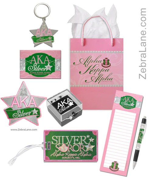 ALpha Kappa Alpha Silver Star Gift Set 1 Zebra Lane