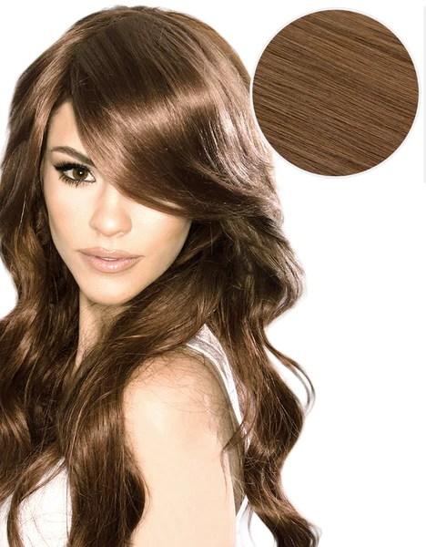 Side Swept Clip In Bangs Chestnut Brown 6 BELLAMI