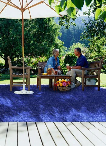 decorate with fake grass rugs
