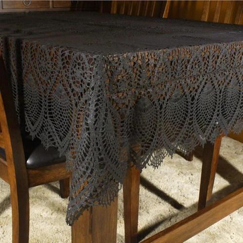 Black Vinyl Lace Table Cloth Tablecloth That Bohemian Girl