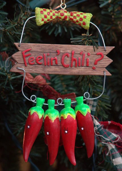 Southwestern Feelin Chili Hot Pepper Christmas Ornament