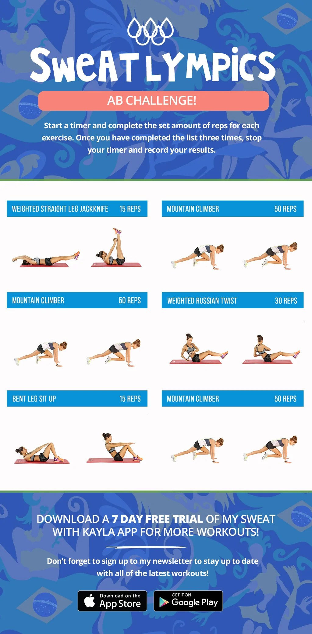 Sweatlympics Ab Challenge! – Kayla Itsines
