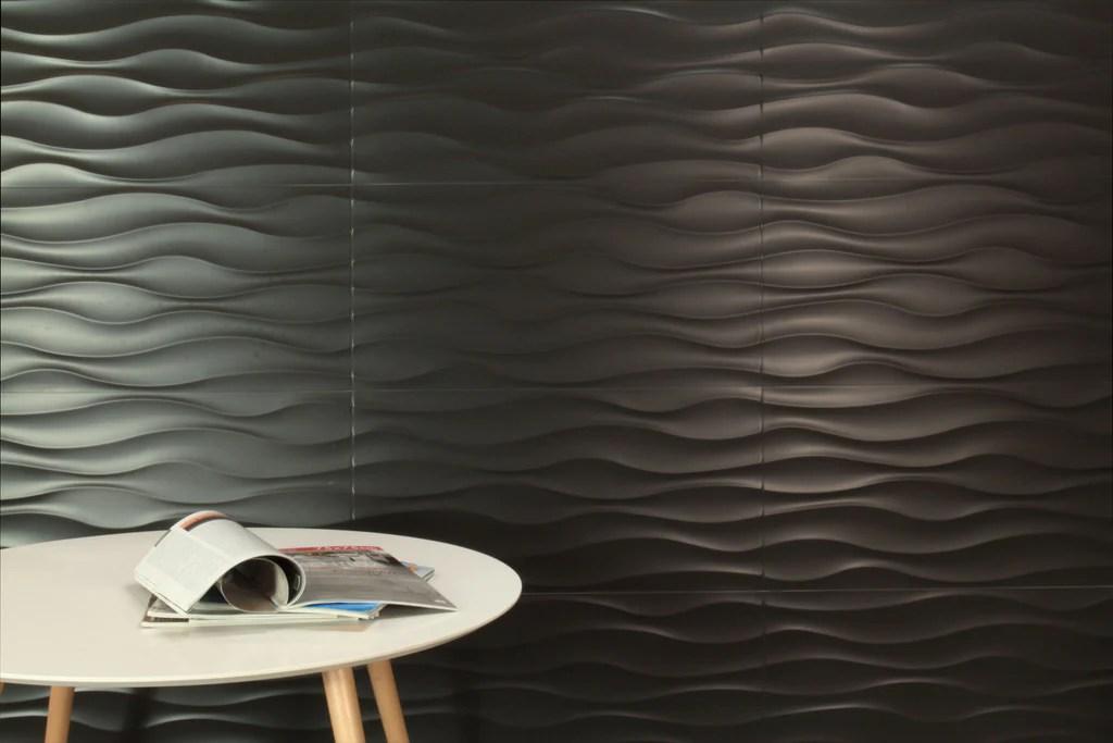 urban wave black matt 300x600