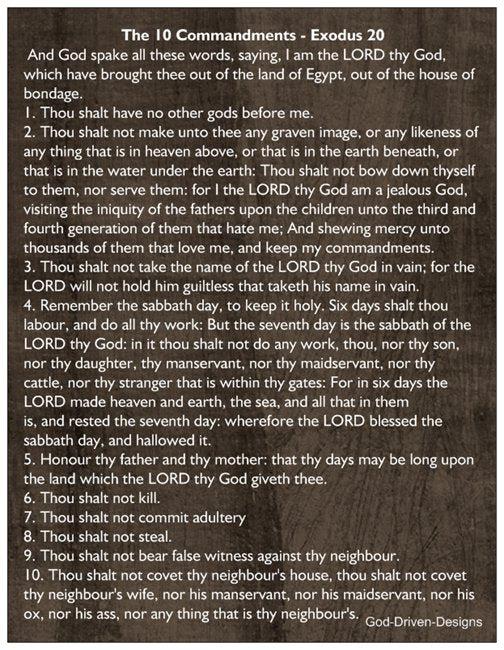 10 commandments of god # 26