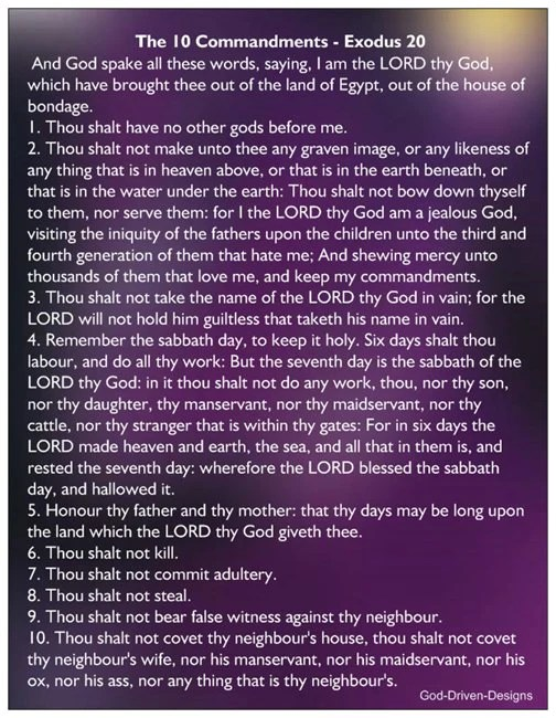 10 commandments of god # 44