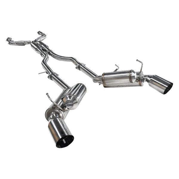 ark performance grip exhaust system polished tips infiniti q50 3 0t red sport 400 awd rwd 16