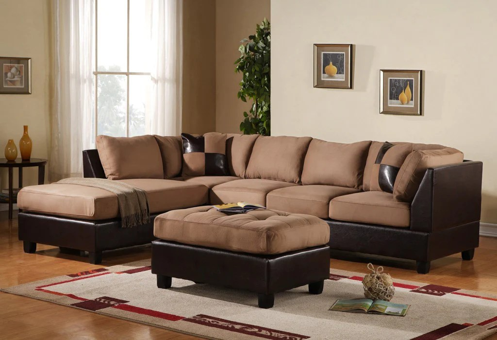 3pc modern microfiber faux leather