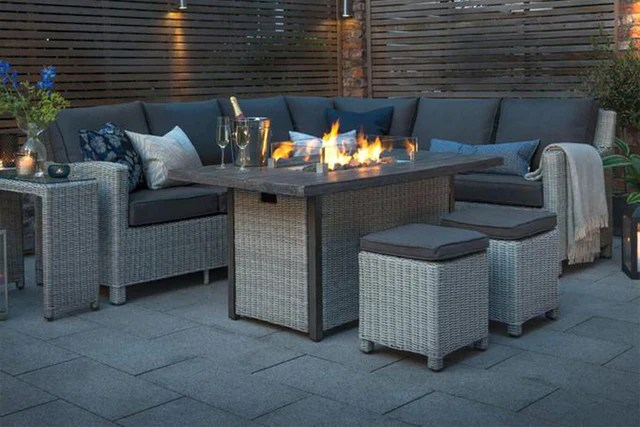 garden furniture sets with a fire pit