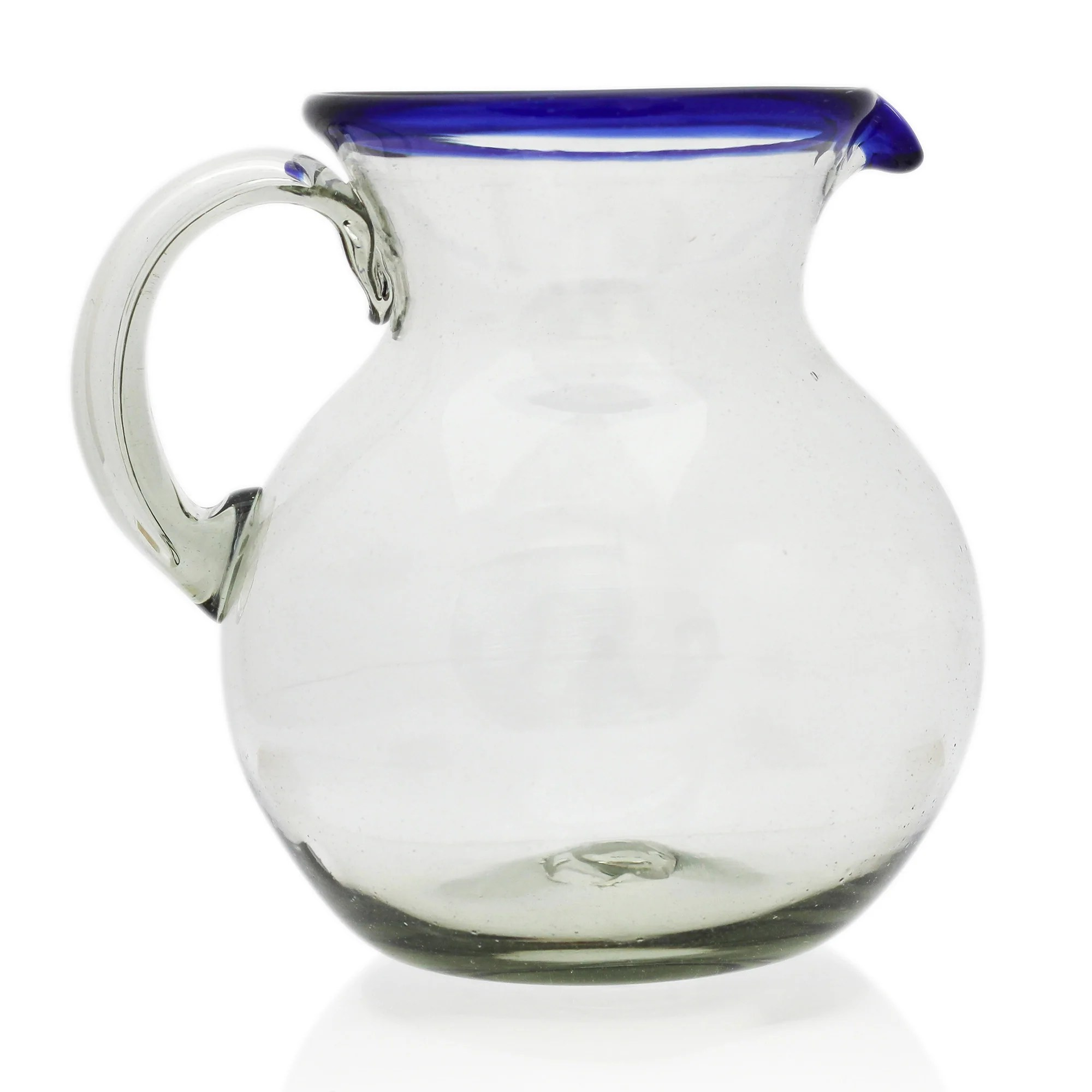 Blue Rim Recycled Glass Water Jug Tumi Retail