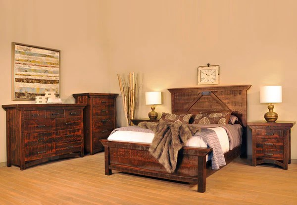 Rustic Carlisle Bedroom Suite Industrial Craftsman