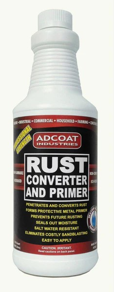 Adcoat Rust Converter And Primer 1 Quart Adcoat Industries