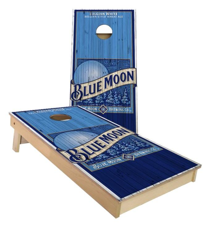 Blue Moon Belgium White Cornhole Boards Cornhole America