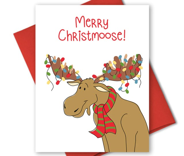 Holiday Cards Merry Christmoose The Imagination Spot