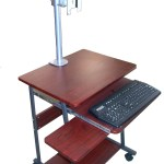 Sts5806 24 Mini Compact Computer And Laptop Desk Table With Wheels Oceanpointe Distributors Corporation