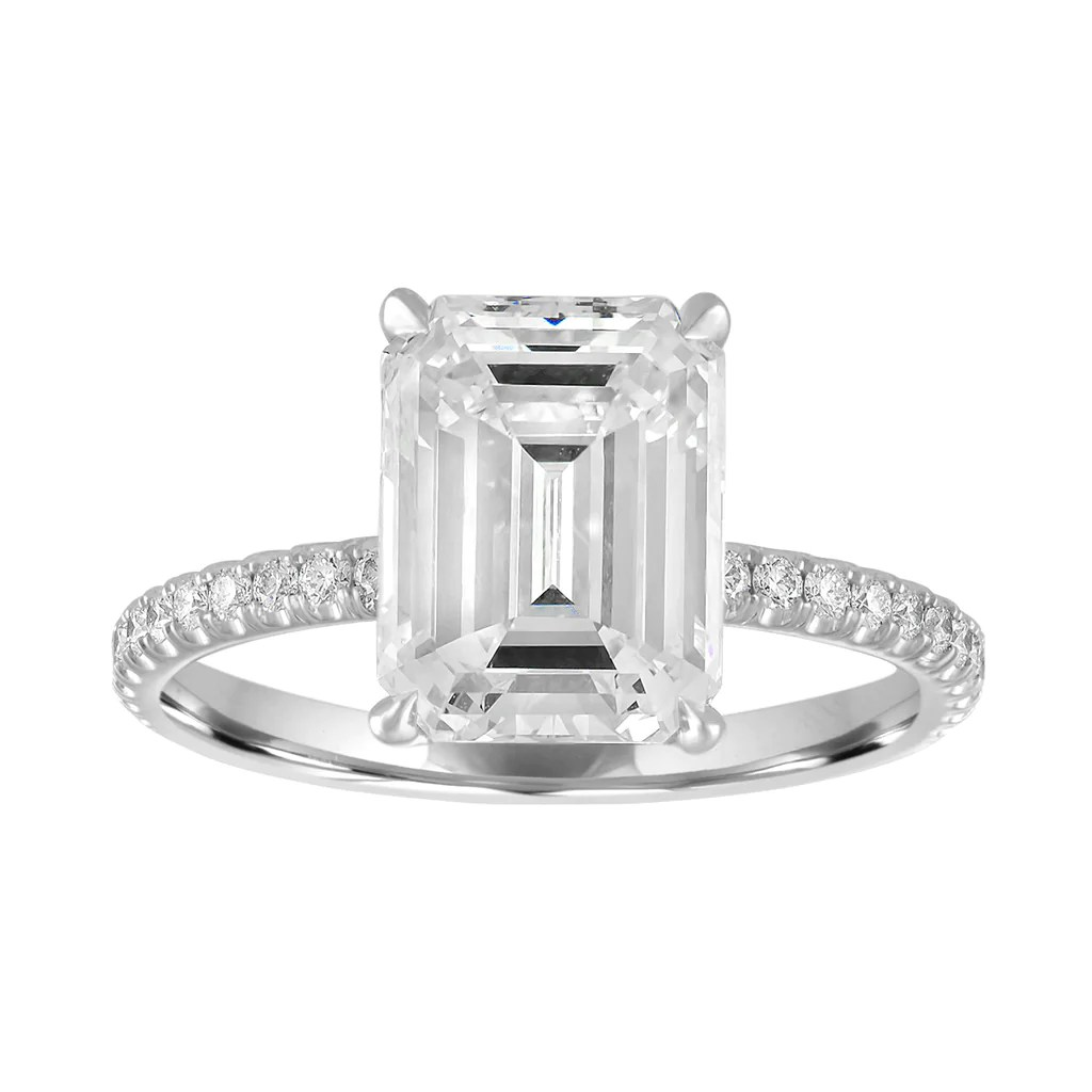 Classic Pave Engagement Ring Stephanie Gottlieb Fine Jewelry