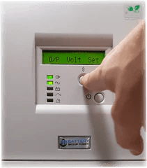 Battery Backup Power, Inc. Uninterruptible Power Supply (UPS) System Output Voltage Set