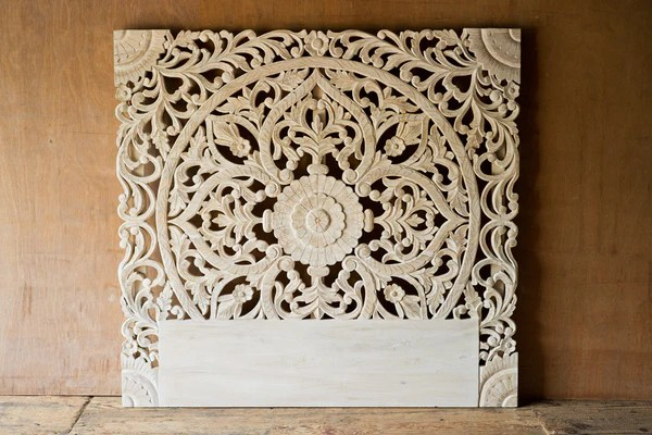 Ornately Carved Indian Headboard SHOP NECTAR