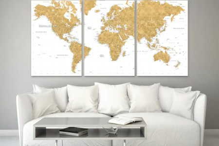 Gold foil world map canvas 4k pictures 4k pictures full hq diy world map wall art that is easy to make and unique smitha katti rose gold foil world map matthew canvas prints by thousand rose gold foil world map gumiabroncs Image collections