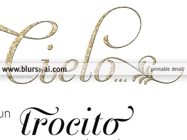 Download Wedding memorial sign in spanish: ya que alguien que ...