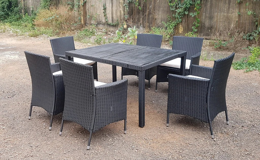 rattan wicker conservatory outdoor garden furniture patio cube table chair set 4 6 8 seater