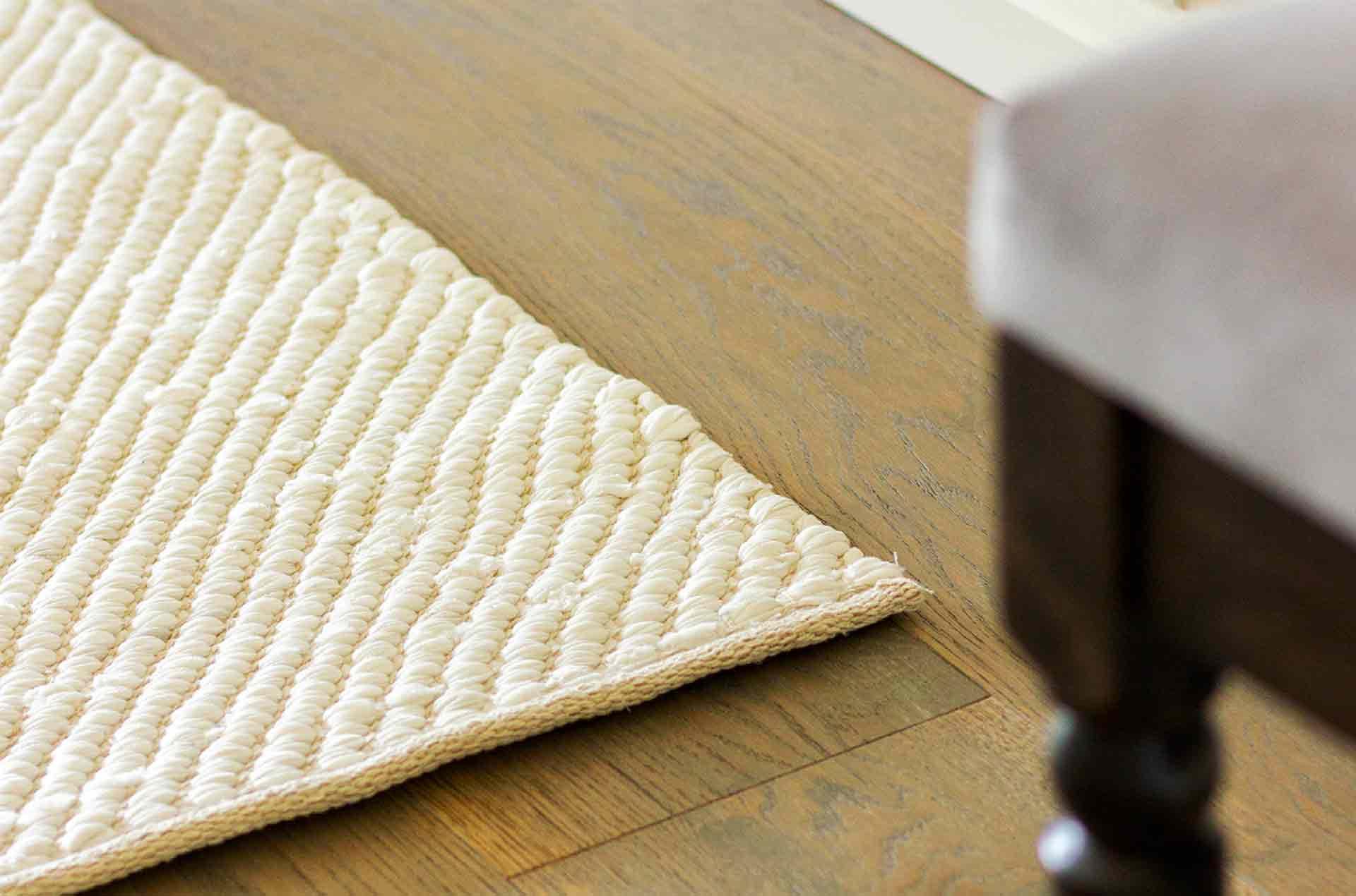 tapis coton jeans cuir durable