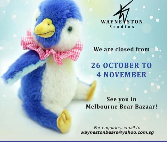 Wayneston Studios Is Closed From  Nov  2018 1850