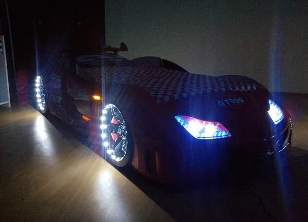 Speedster GT999 Red Car Bed With Lights Sounds Amp Doors