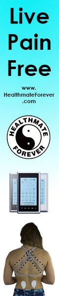 HealthmateForever live pain free, vertical, logo, model, unit