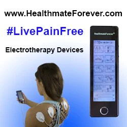HealthmateForever #livepainfree, blue, square, electrotherapy, website