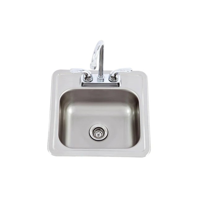 small stainless steel sink taps for a built in bbq