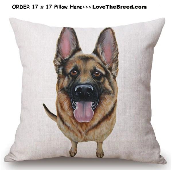 german shepherd linen pillow