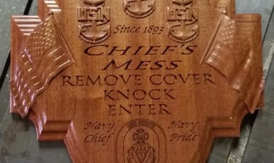 Navy Chief Sign Wood | Wooden Thing