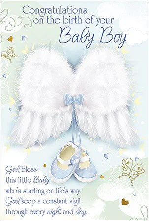 Baby Greeting Cards Baptism Card Christening Card