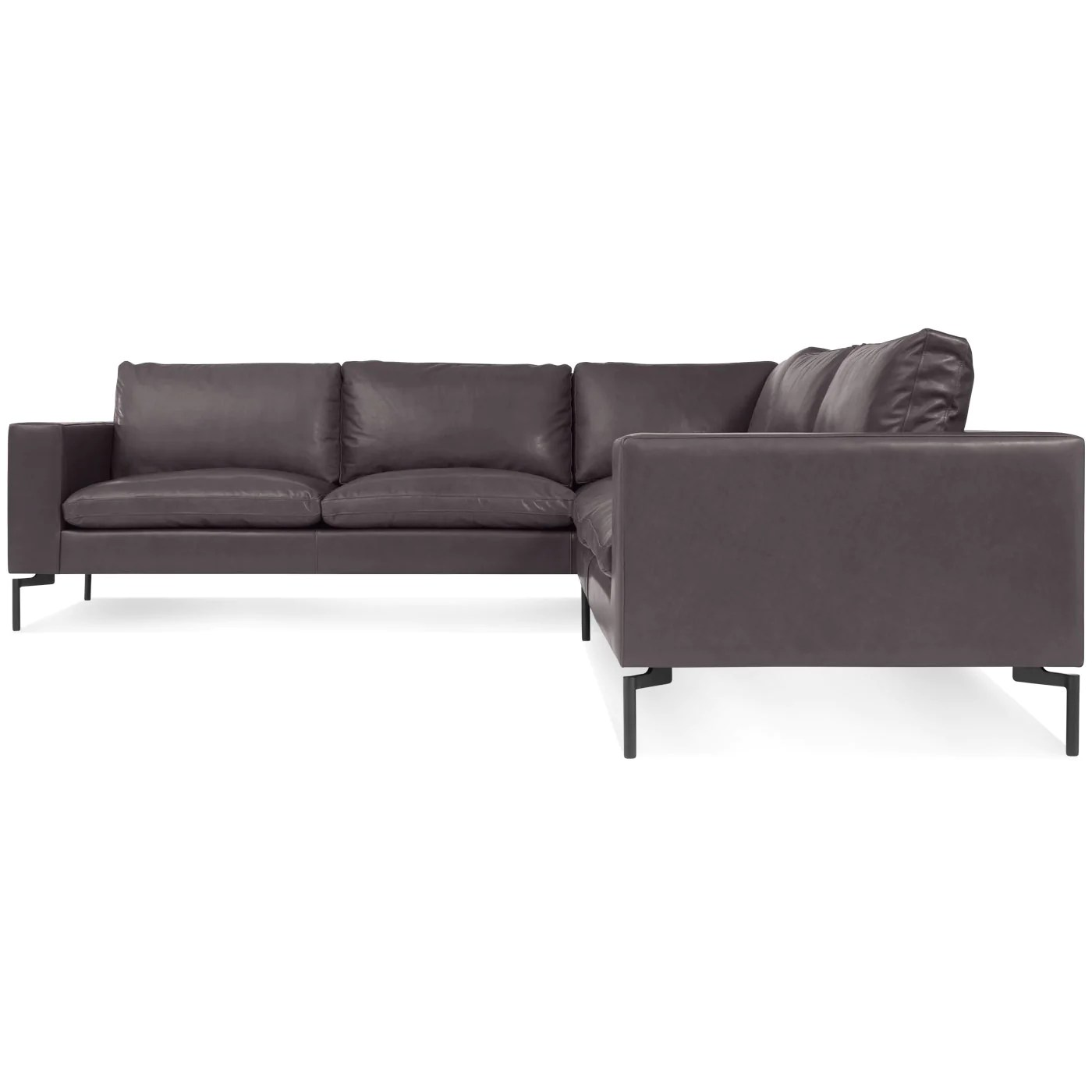 Blu Dot New Standard Right Leather Sectional Sofa Small