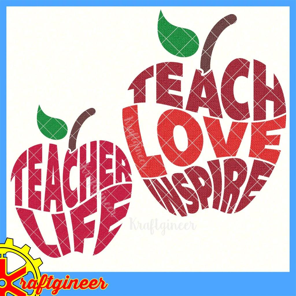 Download Education SVG   Apple 4 Teacher SVG, DXF, EPS, Cut File ...