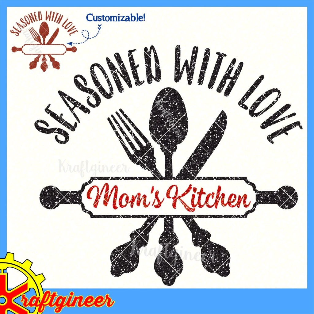 Download Valentine's Day SVG   Seasoned with Love SVG, DXF, Cut ...