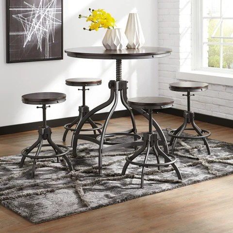 Odium Counter Height Dining Set By Signature Design By Ashley Barrow Fine Furniture