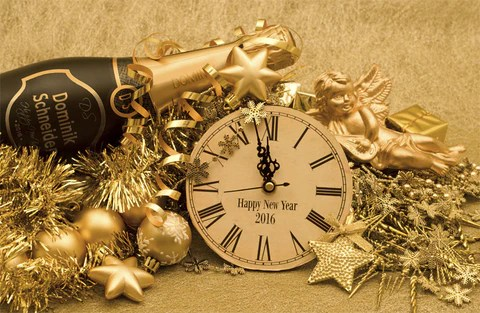 New Year Golden Ornaments   100343     XMPie MARKETPLACE     New Year Golden Ornaments   100343