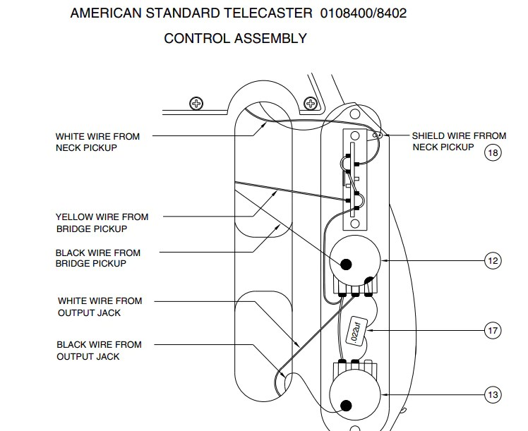 Fender Standard Telecaster Wiring Diagram Details | Avecdd Unix on